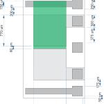 Diagrama de construcție a senzorului de Ph. Cu verde a fost marcată portiunea intre care se depune stratul sensibil.