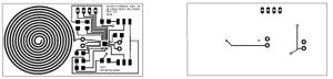 Circuitul electronic pentru dispozitivul RFID (vedere anterioara-stanga si vedere posterioara-dreapta)